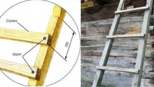 Как сделать приставную лестницу простую своими руками