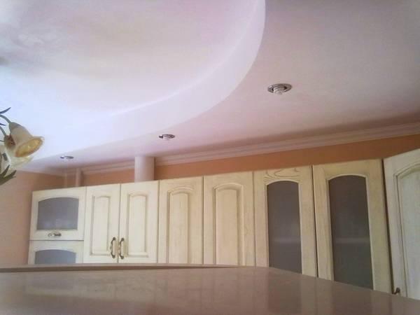потолки на кухне из гипсокартона видео
