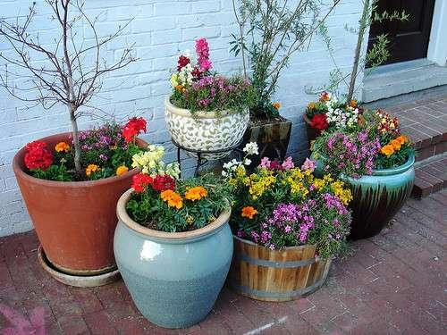 Вазоны для цветов своими руками 45