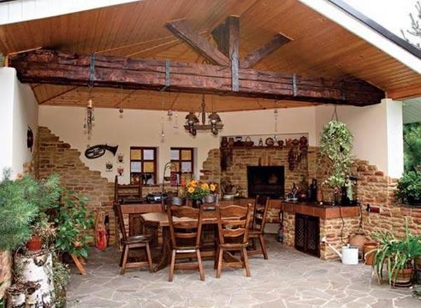 Идеи кухни на даче фото 183