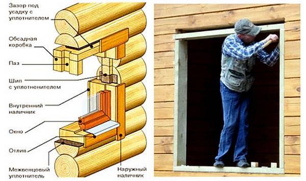 Как своими руками установить пластиковое окно в доме из бруса