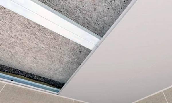 Делаем своими руками навесной потолок в ванной