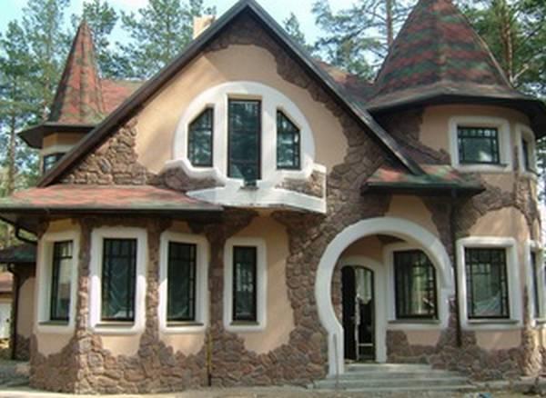 Дома с красивой отделкой фасада