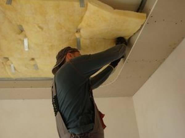 Шумоизоляция бетонного потолка своими руками